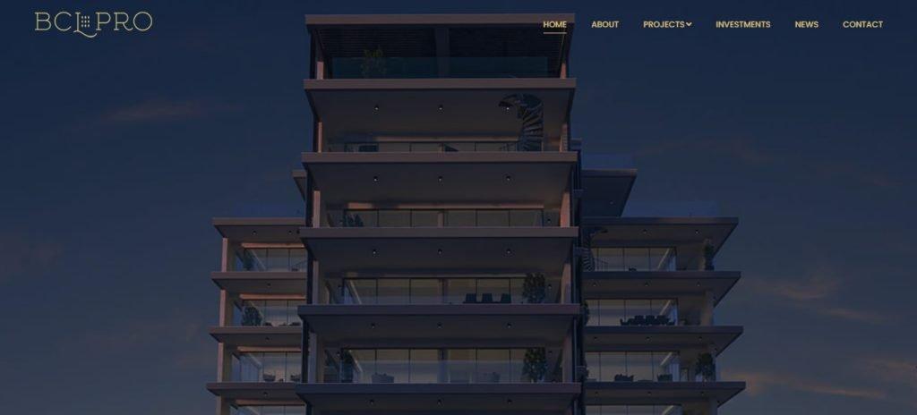 bcl pro website screenshot